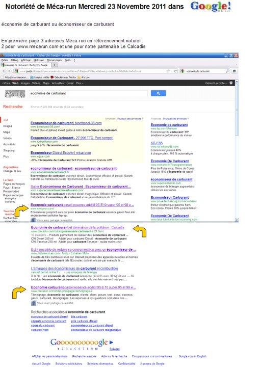 Referencement naturel Google